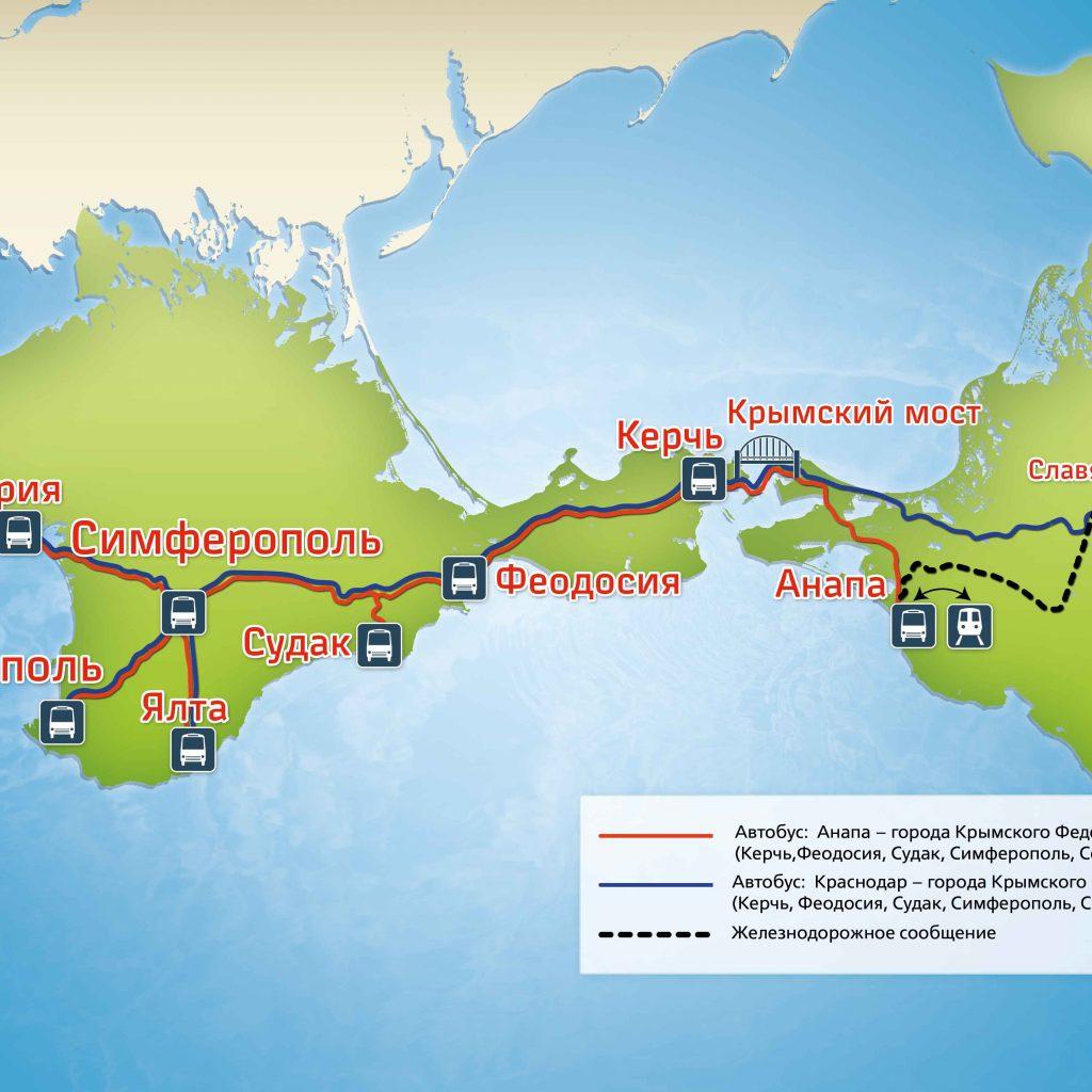 Расстояние от Анапы до Переправы на Керчь