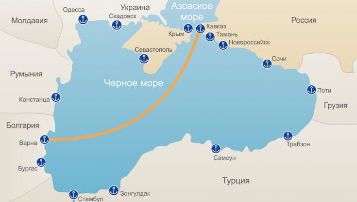 Паромная переправа Порт Кавказ - Бургас/Варна: расписание и тарифы